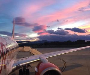 aircraft, stewardess, and flightattendant image