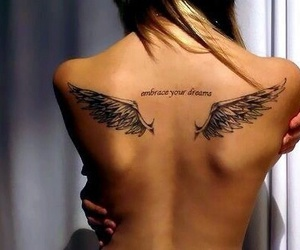 angel, fashion, and tattoo image