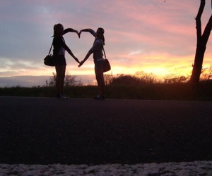 friendship, heart, and nature image
