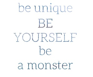 be, unique, and monster image