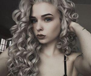 alt girl, dyed hair, and grey hair image