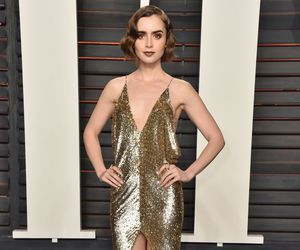 lily collins, beautiful, and brunette image