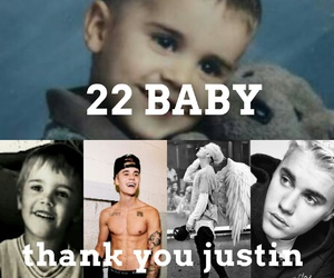 22, justin bieber, and happy brithday image