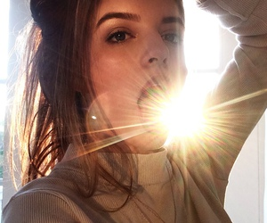 girl, sun, and indie image