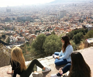 Barcelona, city, and frienship image