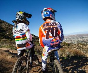 downhill, fox, and motocross image