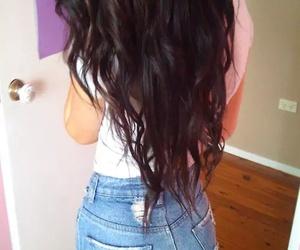 hair, shorts, and long hair image