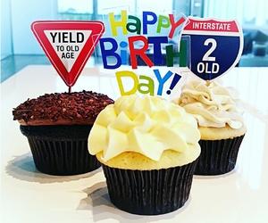 birthday, happy birthday, and cupcake image