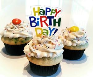 birthday cake, cupcake, and cupcakes image