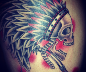 indian, skul, and tattoo image