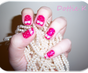 bows, konad, and nail art image