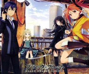 black bullet, anime, and enju image