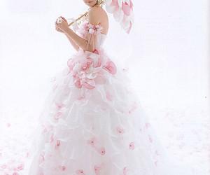 pink, beautiful, and dress image