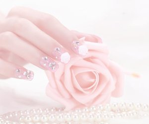 pastel, nails, and rose image