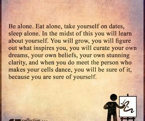 quote, alone, and life image