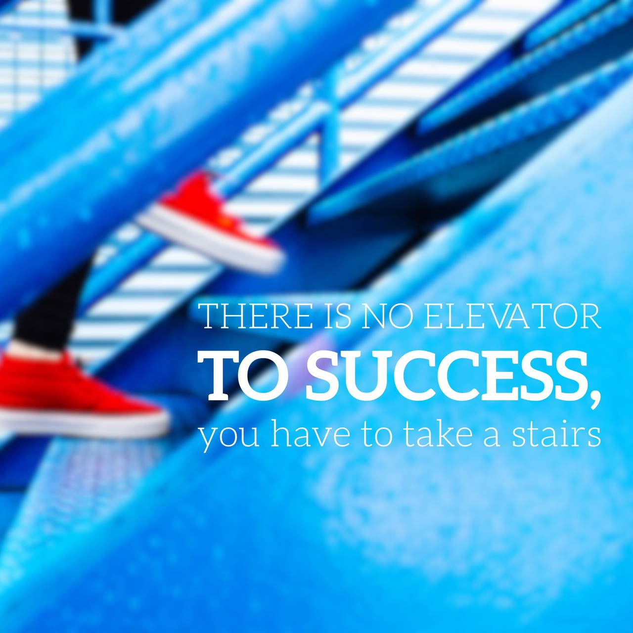 There Is No Elevator To Success You Have To Take A Stairs
