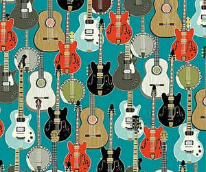 background, guitar, and music image