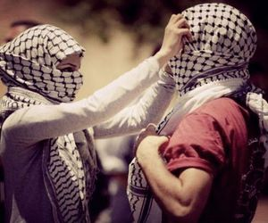 palestine, couple, and muslim image