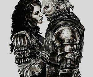 fan art, fantasy, and the witcher image