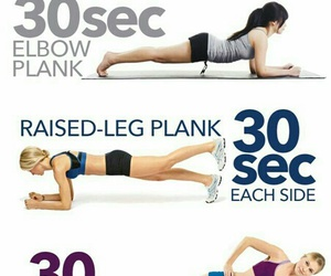 workout, fitness, and plank image