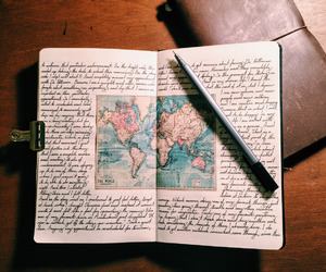 journal, wanderlust, and book image