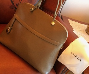 bag, beige, and furla image