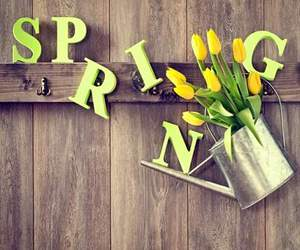 spring, flowers, and yellow image