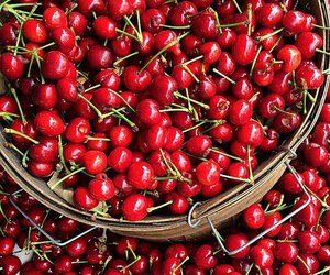 cherry, red, and summer image