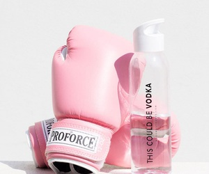 boxing, funny, and pink image