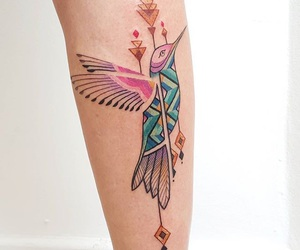 tattoo and colibri image