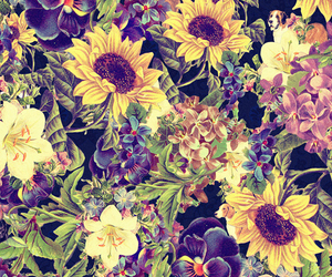 flowers, pattern, and summer image