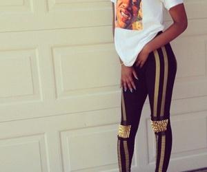 girl, tenue, and legging image