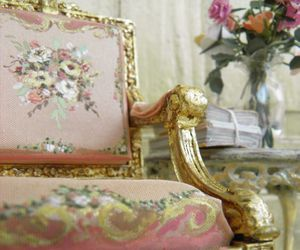 antique, chair, and classy image