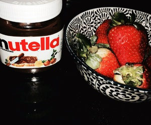 nutella, strawberry, and tumblr image