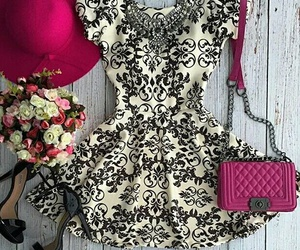 dress, outfit, and hat image