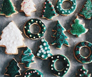 christmas, ginger, and trees image
