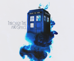 doctor who, tardis, and blue image
