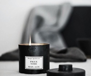 candle, interior, and black image
