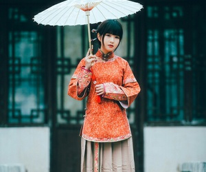 fashion, orange, and umbrella image