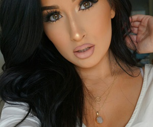 brunette, tan, and fashion image