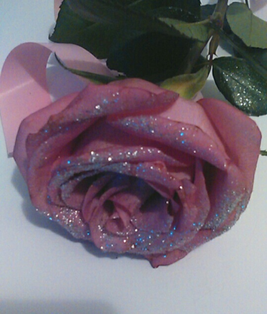 rose, pink, and glitter image