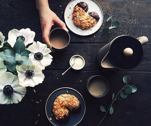 breakfast, drink, and coffee image