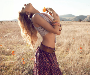 beauty, hippie, and young image