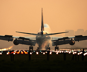 plane, airplane, and travel image