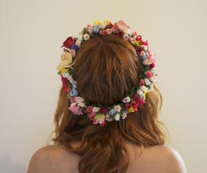 auburn, flowers, and grunge image