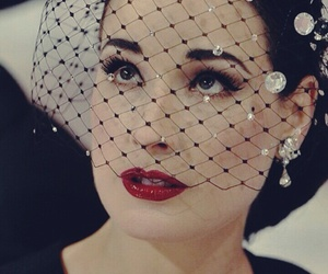 Dita von Teese, lipstick, and red image