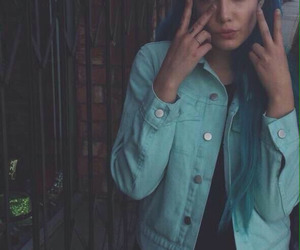 halsey, blue, and blue hair image