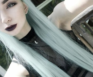 hair, tumblr, and goth image