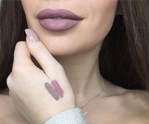 lips, makeup, and matte image