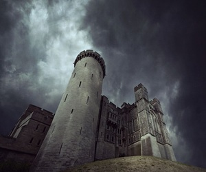 dark sky, medieval, and arundel castle image